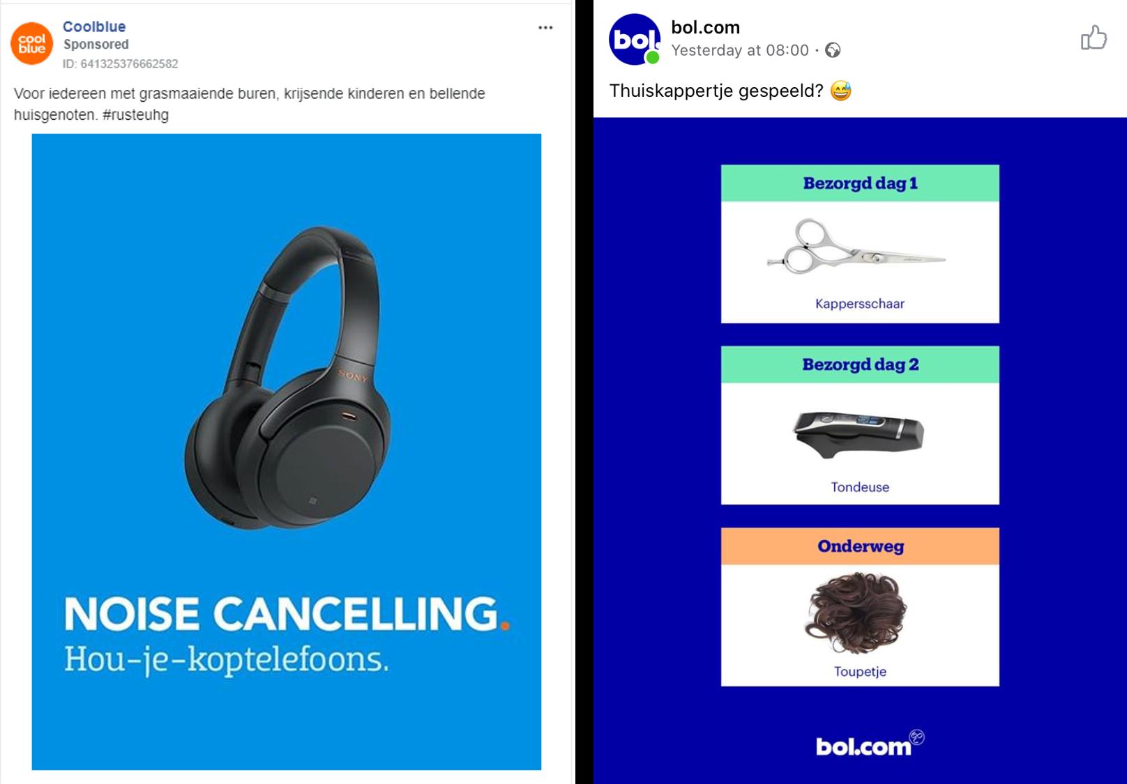 Bol.com en Coolblue gebruiken humor in hun advertenties