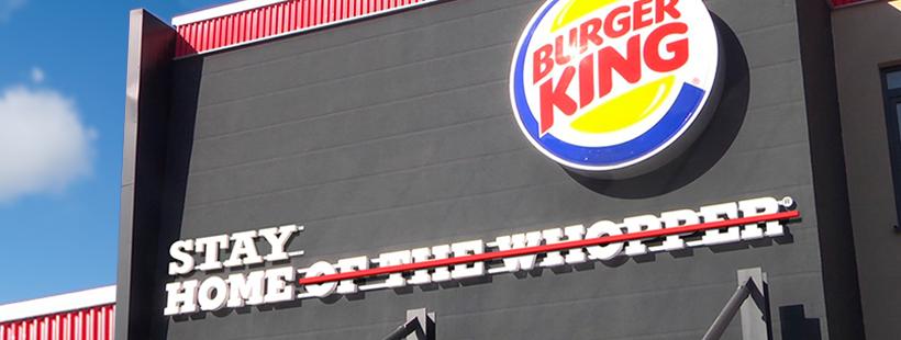 Burger King verandert logo door Corona