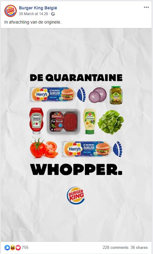Burger King toont hoe je de quantaine Whopper maakt